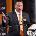 Butch Jones, Tennessee's new head football coach, speaks during an NCAA college football new conference on Friday, Dec. 7, 2012, in Knoxville, Tenn. The Vols' introduced Jones on Friday as its successor to Derek Dooley, who was fired Nov. 18 after going 15-21 in three seasons. (AP Photo/Wade Payne) ** Usable by LA and DC Only **