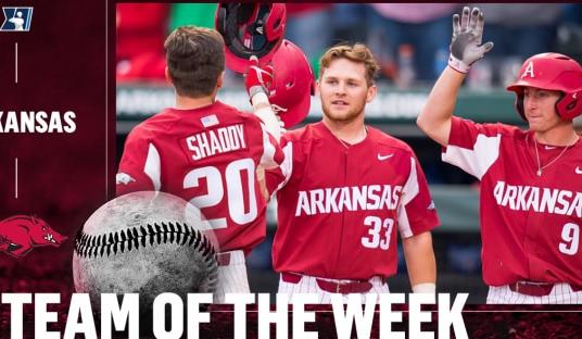 College baseball: Red-hot Arkansas sweeps Kentucky, earns team of the week honors