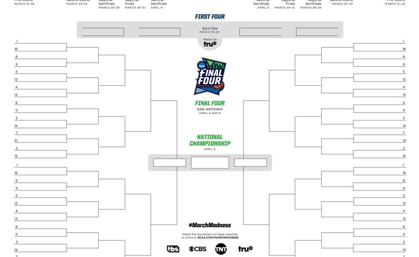 picture about Ncaa Women's Printable Bracket identified as NCAA bracket 2019: Printable March Insanity event