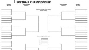 photo regarding Printable 64 Team Bracket titled NCAA softball bracket 2019: Printable Womens College or university Entire world