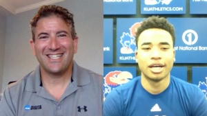 Kansas' Devon Dotson tells Andy Katz about his decision to stay with the Jayhawks